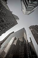 New York . upside down. mirror effects on 42nd street ,  .New York  Usa   /  reflets sur la 42 em rue   New York  Usa