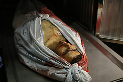 March 22, 2019 - Gaza City, The Gaza Strip, Palestine - The bodies of Palestinian lie in the Al Shifa Hospital morgue in Gaza city, Two Palestinians killed by Israeli fire injuring 55 others, in Gaza border clashes. (Credit Image: © Dawoud Abo Alkas/Quds Net News via ZUMA Wire)