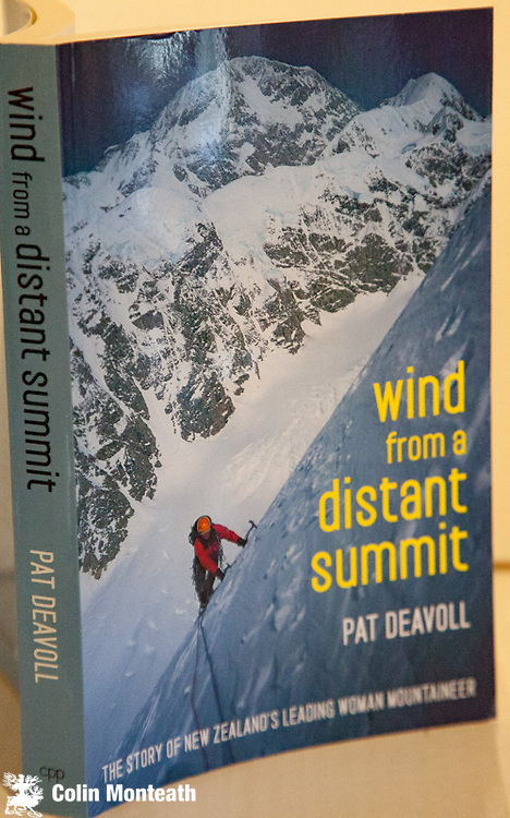 WIND FROM A DISTANT SUMMIT- the story of New Zealand's leading woman mountaineer - Pat Deavoll, Craig Potton Publishing, Nelson, Christchurch, First New Zealand Edn.,2011,  Card covers, VG+, as new, colour plates,  Well-crafted autobiography covering Pat's rich climbing career in New Zealand, Alaska, Canada, Pakistan, Central Asia & India One copy signed by the author $NZ55 and one copy unsigned $NZ45.