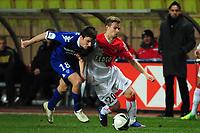 FOOTBALL - FRENCH CHAMPIONSHIP 2011/2012 - L2 - AS MONACO  v SC BASTIA - 13/02/2012 - PHOTO OLIVIER ANRIGO / DPPI  - VLADIMIR KOMAN (ASM) / YANNICK CAHUZAC (BAS)