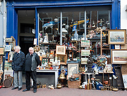 Exterior of antique shop in Utrecht The Netherlands