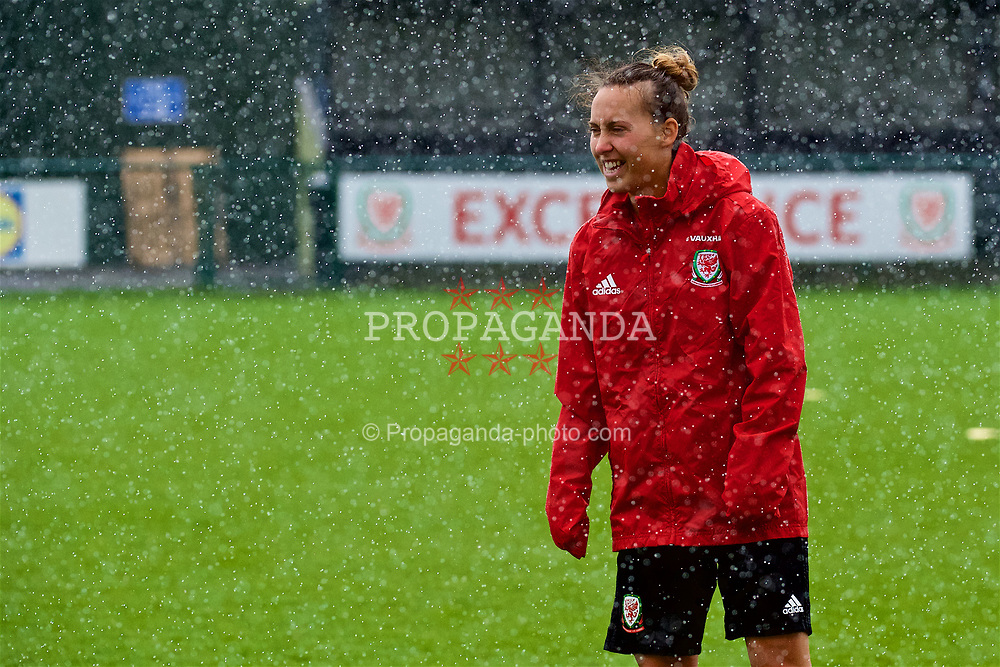 NEWPORT, WALES - Tuesday, April 3, 2018: Wales' Melissa Fletcher during a training session at Dragon Park ahead of the FIFA Women's World Cup 2019 Qualifying Round Group 1 match between England and Wales. (Pic by Rebecca Neaden/Propaganda)