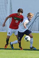Fotball<br /> 20.10.2011<br /> Landskamp G15<br /> Portugal v Norge<br /> Foto: Cityfiles/Digitalsport<br /> NORWAY ONLY<br /> <br /> Portugal vs Norway  under 16 International Friendly Football Match. In picture: Morten Ågnes Konradsen and Goncalo Guedes