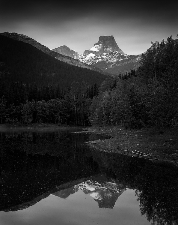Fortress Mountain watches over Wedge Pond in Kananaskis