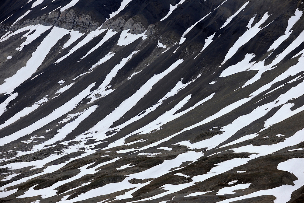 Arctic mountain landscape, Svalbard, Norway