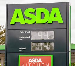 ASDA Petrol Price 11 May 2020; ASDA follow Morrisons and cut the price of petrol below £1.<br /> <br /> (c) Chris McCluskie | Edinburgh Elite media