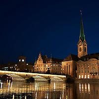 Fraumunster at Night, Zurich Switzerland