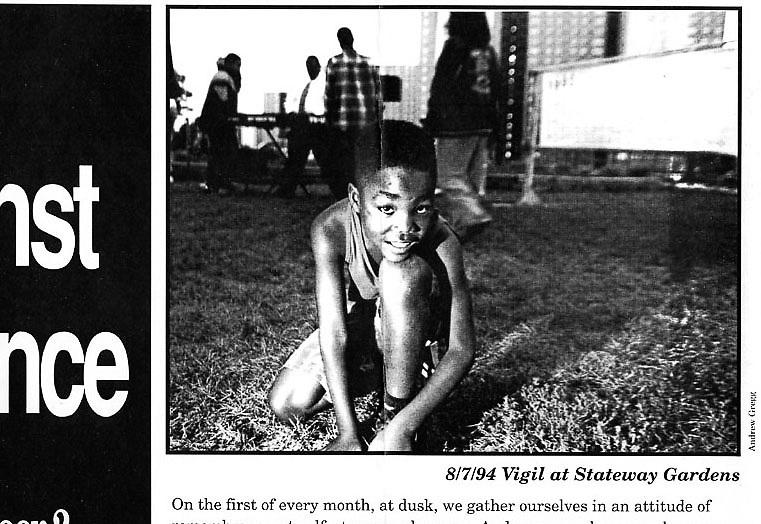 Vigil Against Violence Promotion Chicago - 1994