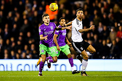 Jamie Paterson of Bristol City is challenged by Ryan Fredericks of Fulham - Rogan/JMP - 31/10/2017 - Craven Cottage - London, England - Fulham FC v Bristol City - Sky Bet Championship.