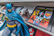 Action characters, incl Batman and Superman on the Insight Editions stand which is full of illustraded action stories. The London Book Fair, celebrating its 45 year anniversary, is the global marketplace for rights negotiation and the sale and distribution of content across print, audio, TV, film and digital channels. Staged annually, LBF sees more than 25,000 publishing professionals arrive in London for the week of the show to learn, network and kick off their year of business. The London Book Fair sits at the heart of London Book & Screen Week, and runs from the 12-14 April 2016.