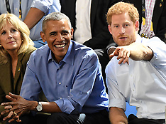 Prince Harry and Barack Obama attend the Invictus Games Wheelchair Basketball - 29 Sep 2017