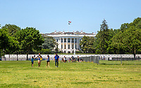 The White House , Washington DC still almost deserted with the ongoing covid pandemic photo by Catherine Brown