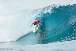 Aug 12, 2017 - teahupo'o, Tahiti, French Polynesia - Owen Wright (AUS) placed 1st in Heat 1 of Round Three at Billabong Pro Tahiti 2017 (Credit Image: © WSL/POULLENOT/World Surf League via ZUMA Wire)