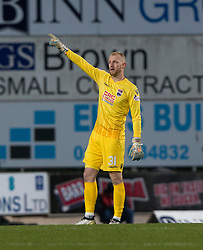 Ross County's sub keeper Aaron McCarey replaces keeper Scott Fox because of an injury. St Johnstone 2 v 4 Ross County. SPFL Ladbrokes Premiership game played 19/11/2016 at St Johnstone's home ground, McDiarmid Park.
