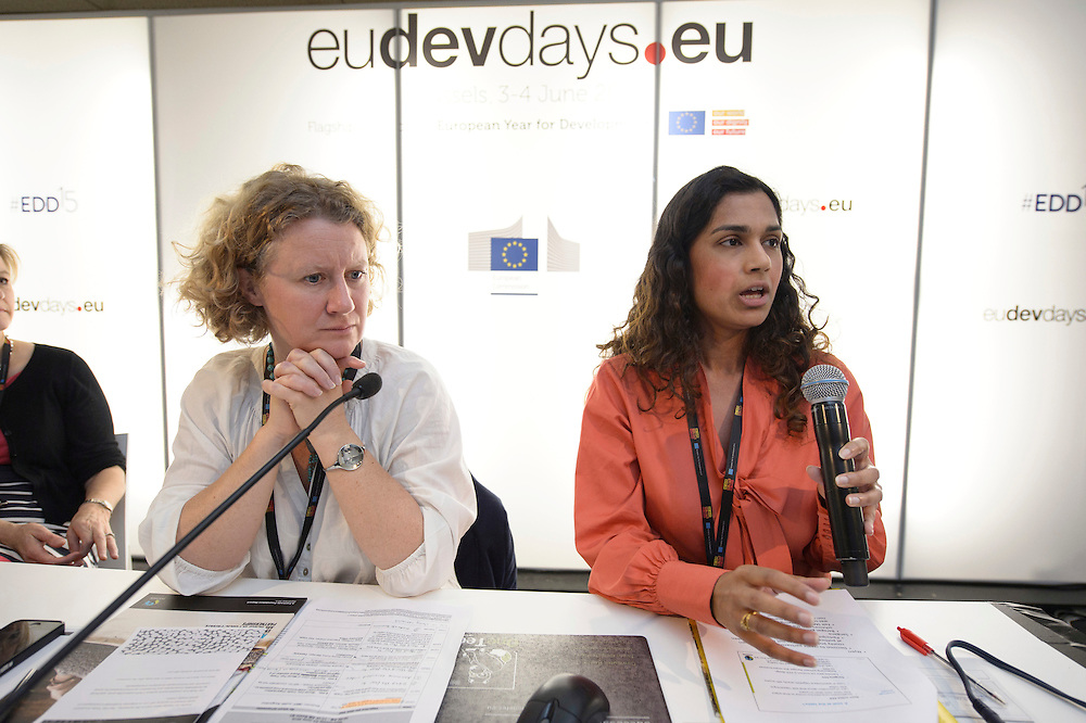 03 June 2015 - Belgium - Brussels - European Development Days - EDD - Trade - Empowering smallholders participation in global supply chains - Shivani Reddy , Policy officer - Judith Sargentini, Member of EP © European Union