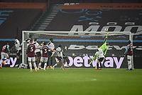 Football - 2020 /2021Premier League - West Ham United vs Fulham - The London Stadium<br /> <br /> Fulham's Alphonse Areola saves from West Ham United's Aaron Cresswell.<br /> <br /> COLORSPORT/ASHLEY WESTERN