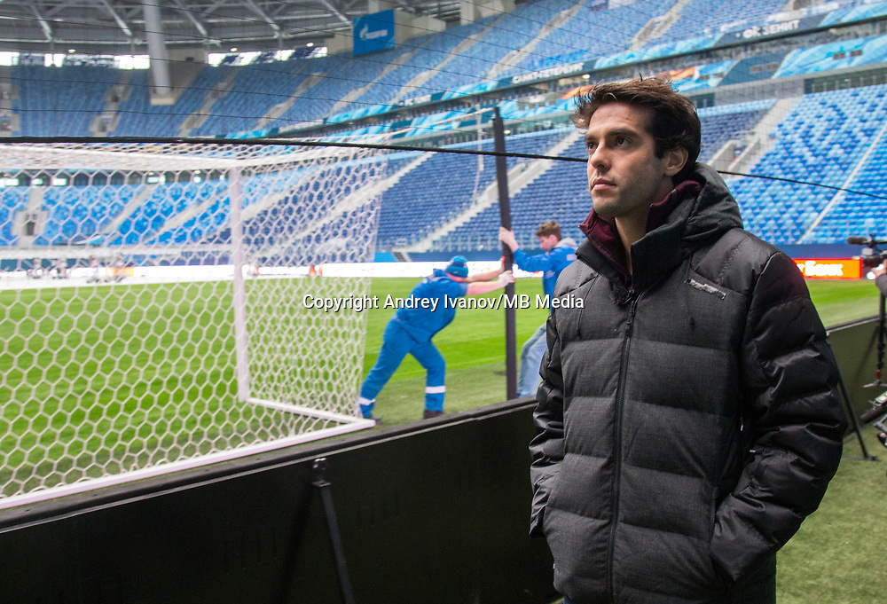 Saint-Petersburg, Russia - March 13 Ricardo Izecson dos Santos Leite, commonly known as Kaká or Ricardo Kaká visits the Saint-Petersburg stadium ahead of the FIFA World Cup 2018, on March 13, 2018 (MB Media)