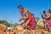 Australian Aborigeni in Traditional Dance