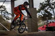 #254 (RACINE Romain) FRA at the 2018 UCI BMX Superscross World Cup in Saint-Quentin-En-Yvelines, France.
