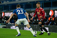 Football - 2020 / 2021 League Cup - Quarter-Final - Everton vs Manchester United - Goodison Park<br /> <br /> Manchester United's Alex Telles under pressure from Everton Séamus Coleman<br /> <br /> <br /> COLORSPORT/TERRY DONNELLY
