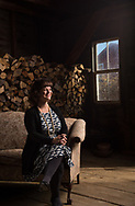 Photo by Mark DiOrio, Colgate University<br /> Penny Lane, Assistant Professor of Art and Art History at Colgate University, poses for a portrait with her barn where she watches independent films, November 8, 2016 in Hubbardsville, N.Y.