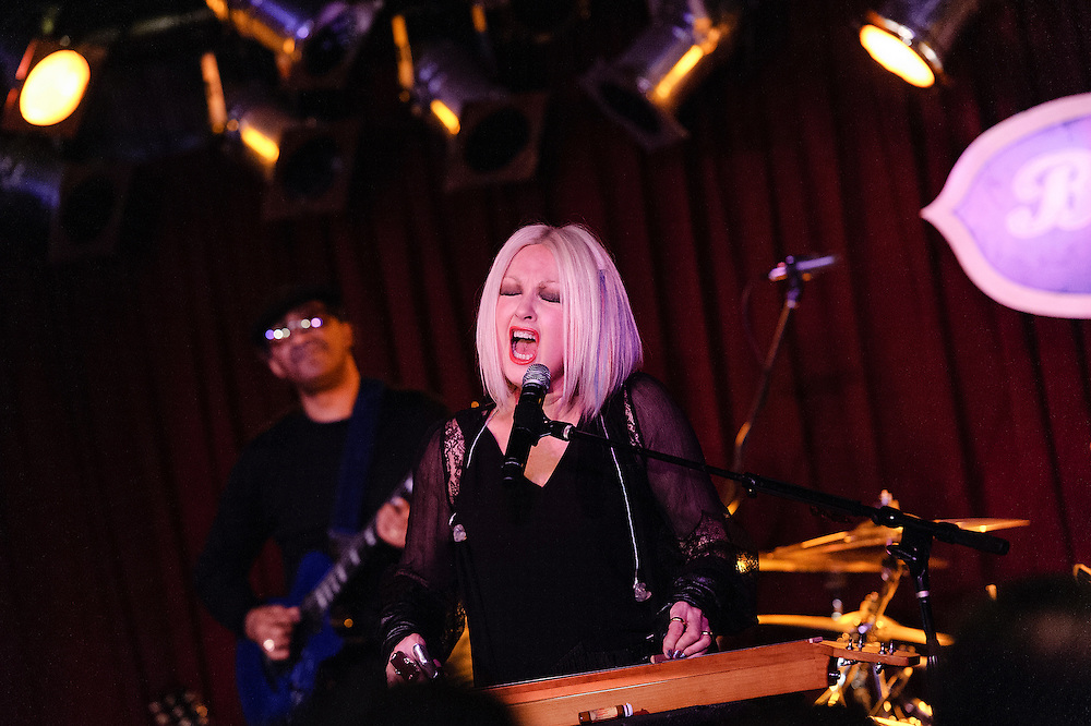 Photos of musician Cyndi Lauper performing live at B.B. King Blues Club, NYC. February 6, 2013. Copyright © 2013 Matthew Eisman. All Rights Reserved.