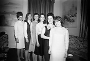 16/2/1966<br /> 2/16/1966<br /> 16 February 1966<br /> <br /> (L-R) Angela Lynch (Ballyfermot) Mary Lawlor(Ranelagh) Phillis Martin(Ballyfermot) Nuala Whelan(Mullingor) Mary Dennis (Clonsilla) at the All Ireland Judo Championships Reception held at the Jurys Hotel