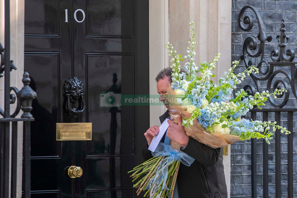 Flowers delivered to Downing Street on the day after UK passed Italy on the death tool and now has the highest number in Europe, London, UK on May 6, 2020. Photo by Dezonne Erica/ABACAPRESS.COM