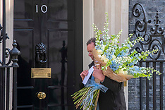 Flowers Delivered To Downing Street - London 6 May 2020