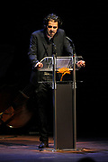Stephan Vanfleteren tijdens uitreiking van de Prins Bernhard Cultuurfonds Prijs 2011 aan Anton Corbijn<br /> <br /> Stephan Vanfleteren during presentation of the Prince Bernhard Culture Prize 2011 to Anton Corbijn