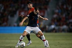 September 11, 2018 - Alicante, Alicante, Spain - Ivan Perisic (C) of Croatia competes for the ball with Marco Asensio of Spain during the UEFA Nations League A group four match between Spain and Croatia at Martinez Valero  on September 11, 2018 in Elche, Spain  (Credit Image: © David Aliaga/NurPhoto/ZUMA Press)