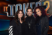 Persviewing van 'It Takes 2'  in Studio 22, Hilversum. 'It Takes 2' is het nieuwe RTL-programma It Takes 2, waarin BN'ers een poging doen om popster te worden,<br /> <br /> Op de foto:  Trijntje Oosterhuis , Glennis Grace en Waylon