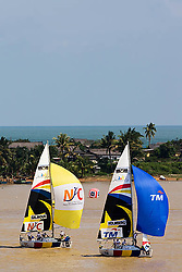 2008 Monsoon Cup. First round robins. Peter Holmberg and Peter Gilmour.(Thursday  4rd December 2008). .