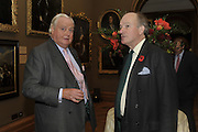 ADRIAN SYKES; DAVID CAMPBELL, Rothschild Wealth Management & Trust  and David Campbell  host a party to celebrate the publication of <br /> 'Made in Britain' -The Men and Women Who Shaped the Modern World by Adrian Sykes. National Portrait Gallery. London. 9 November 2011 <br /> <br /> <br />  , -DO NOT ARCHIVE-© Copyright Photograph by Dafydd Jones. 248 Clapham Rd. London SW9 0PZ. Tel 0207 820 0771. www.dafjones.com.