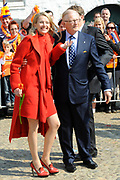 Koninginnedag 2011 in het  Limburgse plaatsjeThorn (witte dorp) // Queen's Day 2011 in the southern of Holland ( Limburg). The Royal family is visiting the small white village Thorn.<br /> <br /> Op de foto / On the photo:  Prinses Mabel en Mr. Pieter van Vollenhoven