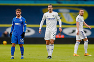 Leeds United defender Pascal Struijk (21) and Brighton and Hove Albion striker Alexis Mac Allister (10) in action during the Premier League match between Leeds United and Brighton and Hove Albion at Elland Road, Leeds, England on 16 January 2021.