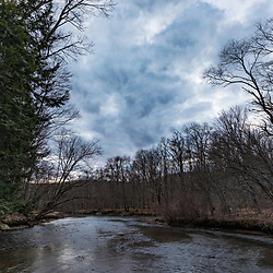 East Branch of the Clarion River, Johnsonburg, Pennsylvania. Spring.
