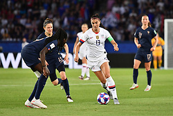 June 28, 2019 - Paris, ile de france, France - Alex MORGAN (USA) in action during the second period of the quarter-final between FRANCE vs USA in the 2019 women's football World cup at Parc des Princes in Paris, on the 28 June 2019. (Credit Image: © Julien Mattia/NurPhoto via ZUMA Press)