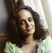 "Arundhati Roy, Booker Prize winning author of ""The God of Small Things"" at her home in New Delhi, India. In recent years, Roy has concentrated on journalism and activism around such causes as human rights and justice in her native India."
