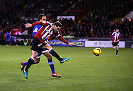 Billy Sharp of Sheffield Utd scores the first goal during the English League One match at Bramall Lane Stadium, Sheffield. Picture date: December 26th, 2016. Pic Simon Bellis/Sportimage