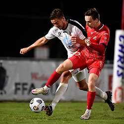 BRISBANE, AUSTRALIA - APRIL 18:  during the NPL Queensland Senior Men's Round 6 match between Olympic FC and Sunshine Coast Wanderers on April 18, 2021 in Brisbane, Australia. (Photo by Patrick Kearney)