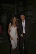 Lord Johnson Somerset and Jemima Khan, Quintessentially Summer party, Debenham House. Addison Rd. London. 15 June 2006. ONE TIME USE ONLY - DO NOT ARCHIVE  © Copyright Photograph by Dafydd Jones 66 Stockwell Park Rd. London SW9 0DA Tel 020 7733 0108 www.dafjones.com