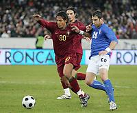 Fotball<br /> Foto: DPPI/Digitalsport<br /> NORWAY ONLY<br /> <br /> FOOTBALL - FRIENDLY GAME 2007/2008 - ITALY v PORTUGAL - 06/02/2008 - BRUNO ALVES (POR) / SIMONE PERROTTA (ITA) <br /> <br /> Italia v Portugal