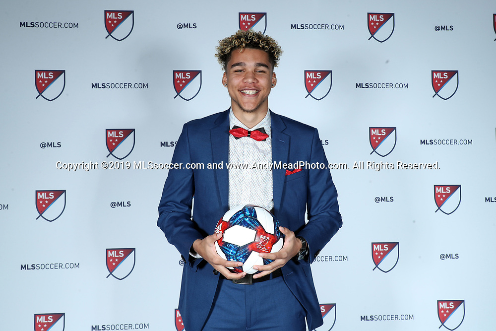 CHICAGO, IL - JANUARY 11: Dayne St Clair was taken with the seventh overall pick by Minnesota United FC. The MLS SuperDraft 2019 presented by adidas was held on January 11, 2019 at McCormick Place in Chicago, IL.