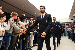Italy players are greeted by fans on arrival at the Etihad Stadium - Mandatory by-line: Matt McNulty/JMP - 23/03/2018 - FOOTBALL - Etihad Stadium - Manchester, England - Argentina v Italy - International Friendly