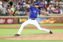May 22, 2018 - Arlington, TX, U.S. - ARLINGTON, TX - MAY 22: Texas Rangers starting pitcher Cole Hamels (35) pitches during the game between the Texas Rangers and the New York Yankees on May 22, 2018 at Globe Life Park in Arlington, Texas. The Rangers defeat the Yankees 6-4. (Photo by Matthew Pearce/Icon Sportswire) (Credit Image: © Matthew Pearce/Icon SMI via ZUMA Press)