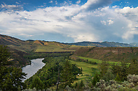 Snake River flowing through southeast Idaho near the Swan Valley