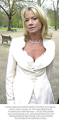 Former debutante MRAS MARGY FENWICK at a fashion photo call in London on 15th April 2002.OYX 64