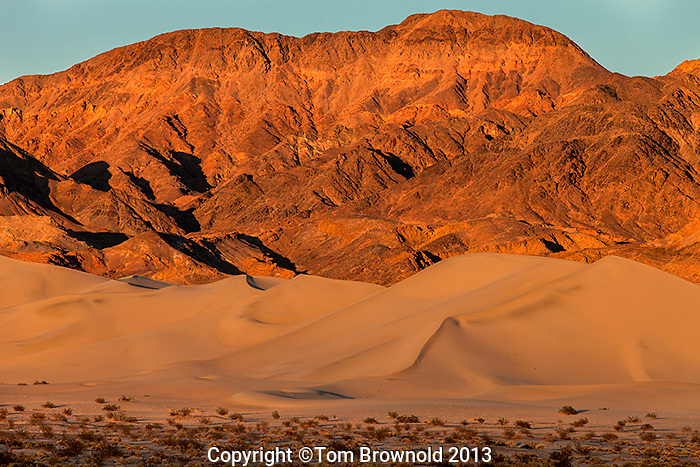 Saddle Peaks Hills and the Ibex dunes in Southern Death Valley