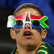 A South African fan during the South Africa V Samoa, Pool D match during the IRB Rugby World Cup tournament. North Harbour Stadium, Auckland, New Zealand, 30th September 2011. Photo Tim Clayton...